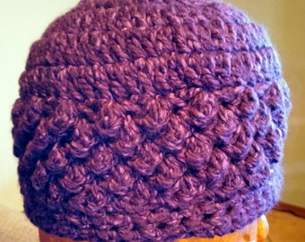 Purple womens beanie