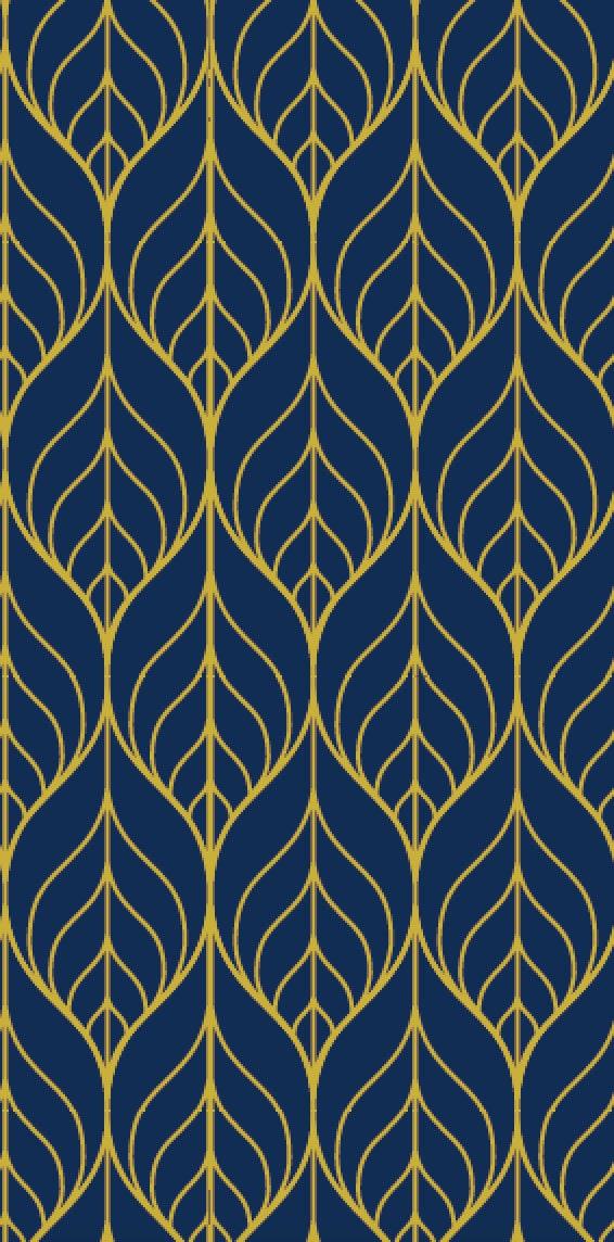 Removable wallpaper leaf wallpaper wallpaper peel and stick - Navy gold wallpaper ...