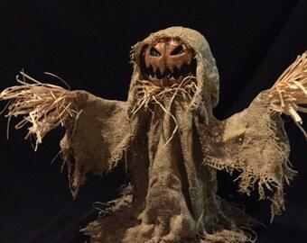 Halloween pumpkin jack-o-lantern scarecrow