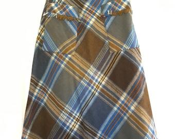 SALE!! Vintage Plaid Skirt - XS
