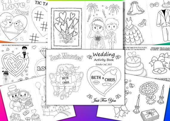 Kids Wedding Coloring Pages Kids Wedding Activity Book