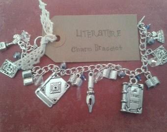Literature inspired Charm Bracelet