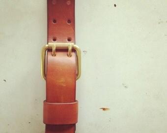 35mm Belt, Double Prong Belt with Exchangeable Loop