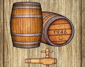 Wine Barrel Wall Art wine barrel art   etsy