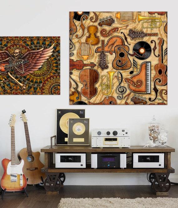 Artistic Wall Design Inc : Danmorrisart music mini square tapestry titled quot adagio