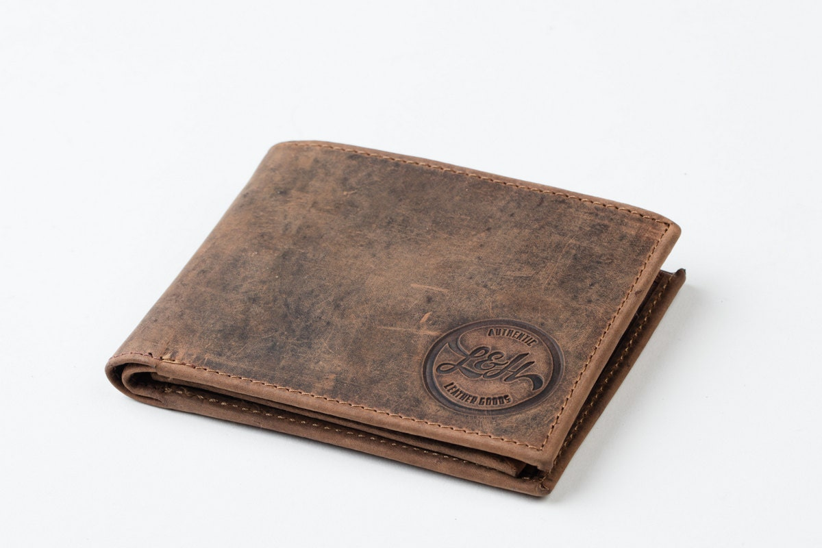Mens Wallet With Coin Pocket Holder Tan Leather Gents