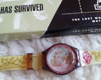 The Lost World Burger King Toy Watch Jurassic Park 1990s Something has Survived SALE!!!