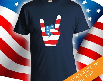 Fourth of july Rock n Roll - merica shirt, mens womens t-shirt, 4th of july t-shirt, fourth of july, independence day, July 4th - CT-486