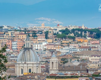 Rome, Italy, view from Il Gianicolo, picture of Rome on canvas, Italian pics, Italy canvas, Rome canvas