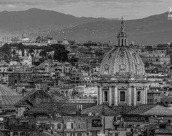 Black and White photo of Rome, picture of Rome in black and white, Italy wall decor, Rome decor, black and white art, Italian pics, Roma