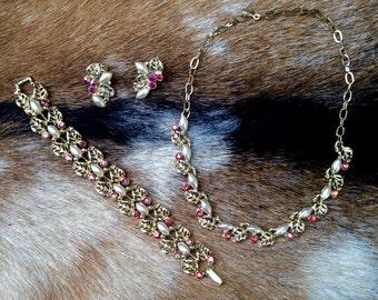 Antique Costume Jewelry Set