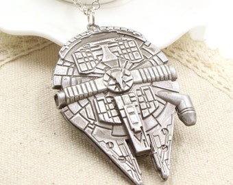 Millennium Falcon Star Wars Pendant Necklace
