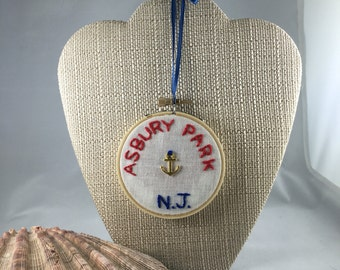 Asbury Park Anchor Ornament