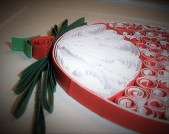 Christmas Bauble - Unique Paper Quilled Wall Art for Home Decor