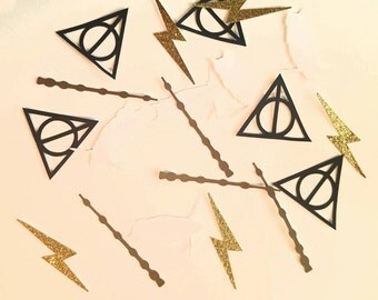 Harry Potter table confetti deathly hallows hedwig owl lightning bolt wand 50 pcs