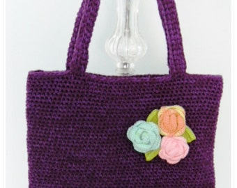 Chrochet Bag, Crochet Shoulder Bag, Crochet Handbag, Crochet Purse, Purple Bag, Gifr for Her, Woman Accessory, Bag, Purse