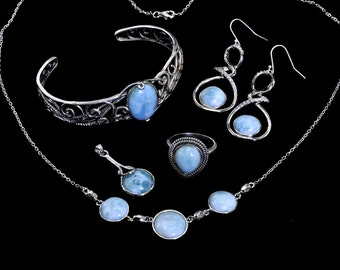 Larimar Wholesale Premium Jewelry .925 Sterling Silver Lot of 6 Items #223