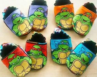 Teenage mutant ninja turtles inspired Baby/Kid Booties