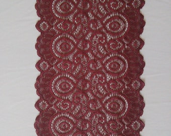 NEW Burgundy Weddings/ Burgundy Lace Runner/3ft 11ft Long X