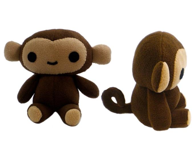 Stuffed Monkey Sewing Pattern