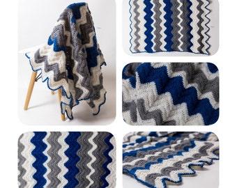 Handmade Chevron Crochet Baby Blanket