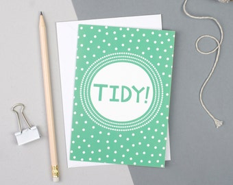 Tidy card - Welsh Card - Welsh Birthday Card - Funny Welsh Card - Welsh Souvenir - Welsh Gifts - Welsh Decor - Welsh Lovespoon