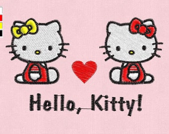 embroidery design Hello Kitty pes hus jef vp3 vip xxx dst exp in zip
