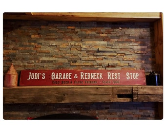 Customized Banner Sign - Garage Sign - Man Cave - Fathers Day - Birthday Gift - Gift