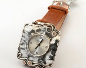 Leather bracelet watch,SHABLOOL watch,wrist watch,ladies watch,women watch,bracelet watch,sterling Silver watch,woman Leather Watch