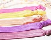 Yoga Headbands - FOE Headbands - Adult Headbands - Pastel Headbands - Headband Set - Peach Headbands - Elastic Headbands - Pink Headbands