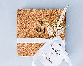 25 x DIY Wedding Favour Cork Coaster Set - Pack of 25