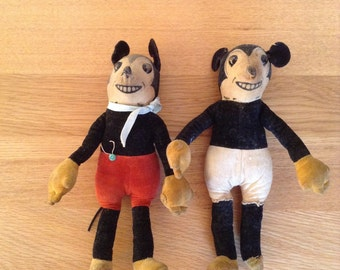 1930's Micky Mouse dolls - very rare