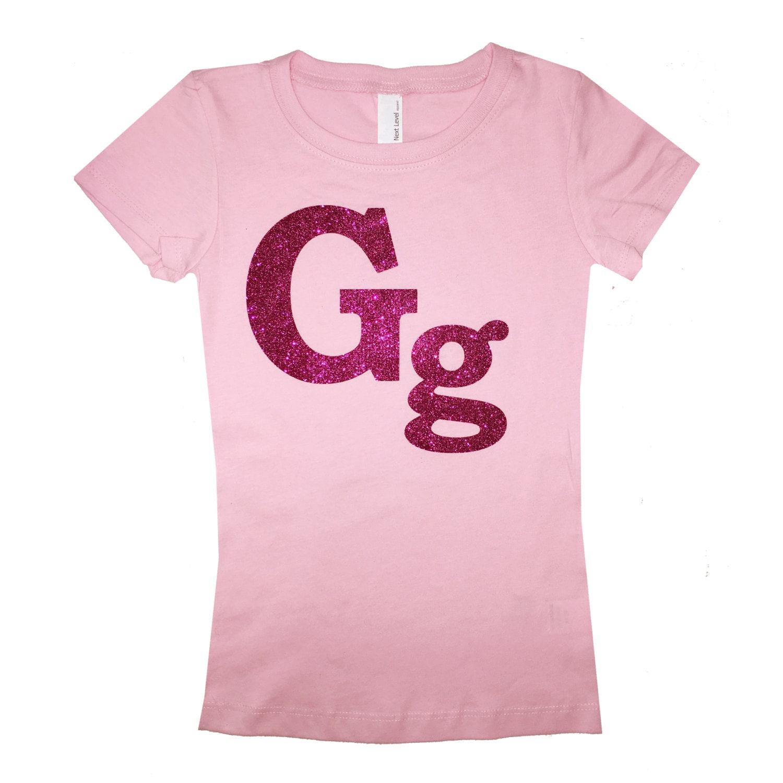Custom Girl 39 S Glitter T Shirt Birthday Girl T Shirt