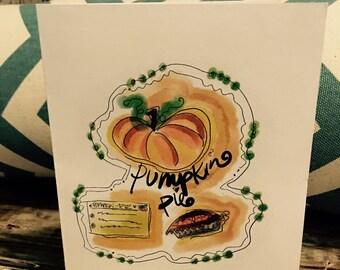 Set of 10 - Pumpkin Pie