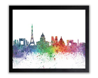 Paris Art, Paris Poster, Anniversary Gift, City of Love, Pray For Paris, Watercolor Paris Painting - PARIS 3