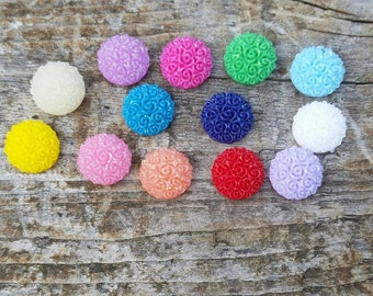 10mm Mixed Floral Round Cabochon