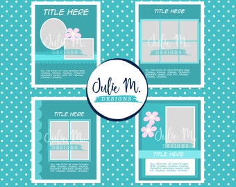 4 Layered 8.5 x 11 Digital Templates