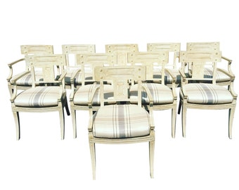 Set of 10 Michael Taylor Klismos Chairs