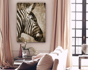 Zebra ; Canvas Art Print African Animal by Eric Yang;