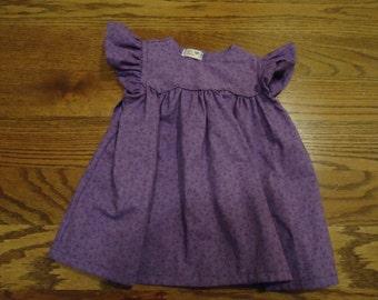 Purple Baby Dress. Size 1-3 mos.