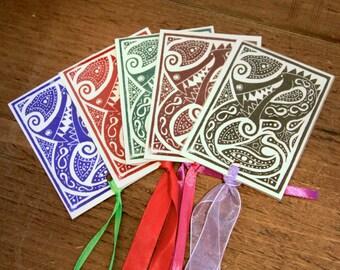 Happy Dragon - small bookmark
