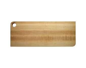 Large maple board  with whole (8 X 20 inch)