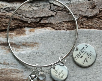 Perfectly Imperfect Wire Adjustable Bangle Bracelet