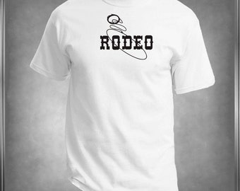 Western Theme Rodeo T -Shirt Ladies or Men's, All Adult Sizes XSmall to 6XLarge Color Choices