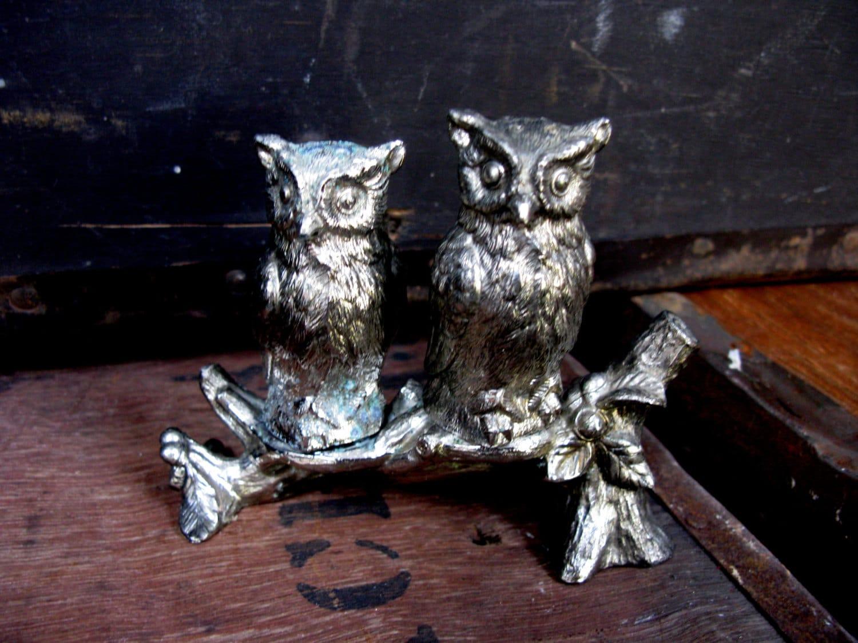 Owl cruet set owl salt and pepper silver cruet set - Salt and pepper cruet set ...
