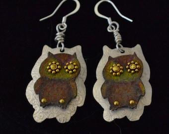 Owl Earrings - Woodsie Owls