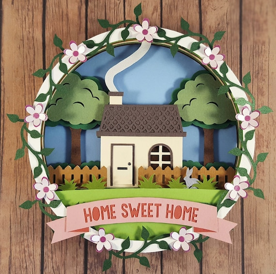 Home Sweet Home Cut Your Own DIY Layered 3D Shadow Box