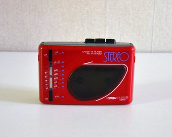 Vintage Walkman Stereo Cassette Player AM FM radio / OMEGA Sound KSR40