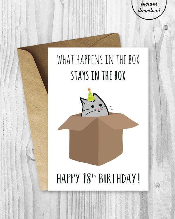 18th Birthday Printable Cards Funny 18th Birthday Cards