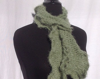 Romantic Ruffles Scarf in Sage Green